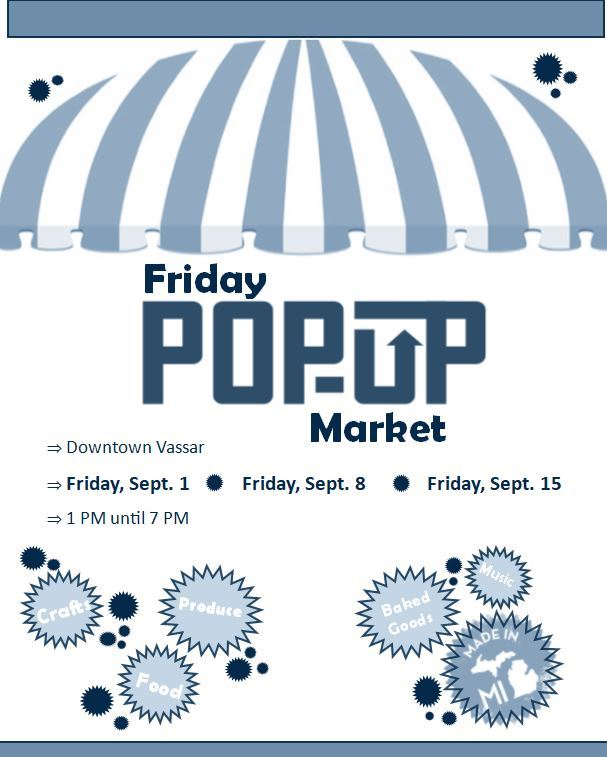September Pop Up Markets