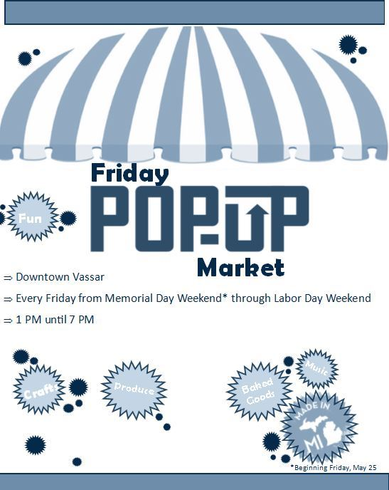 Friday Pop Up Market UPDATED FOR 2018